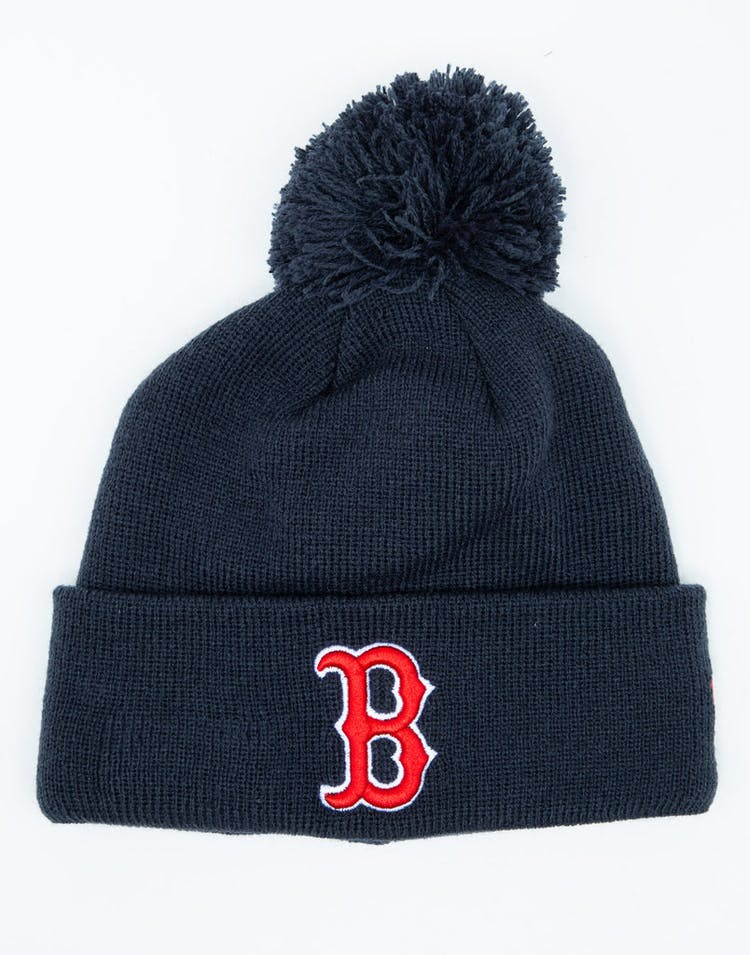 outlet store 4f7fa 50cb6 New Era Youth Boston Red Sox 6Dart Pom Knit Navy – Culture Kings