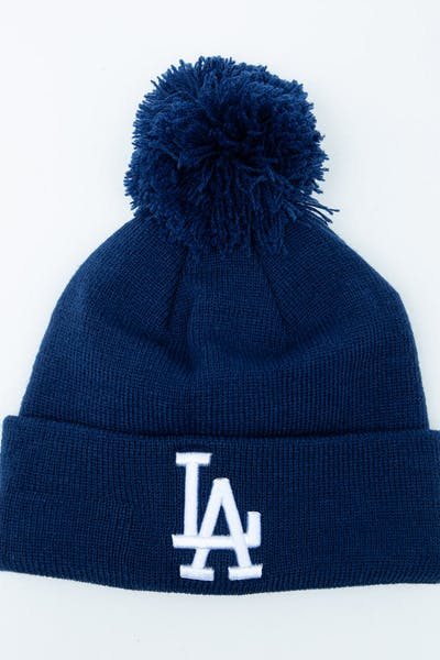 New Era Youth Los Angeles Dodgers 6Dart Pom Knit Dark Royal
