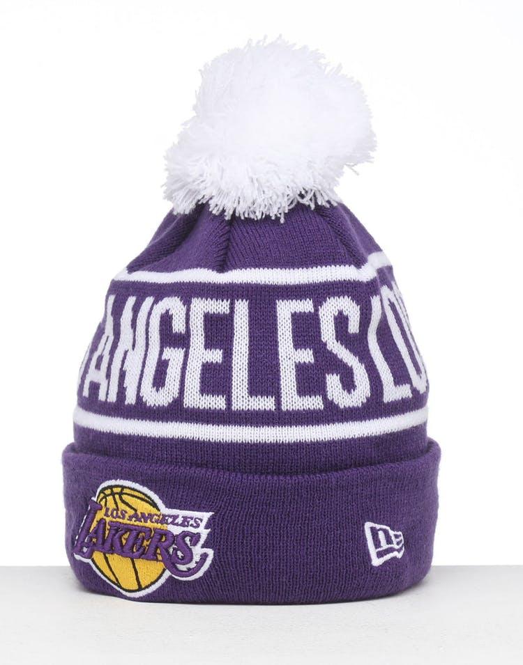 9c0effd06 New Era Kids Los Angeles Lakers 6Dart Pom Knit Purple