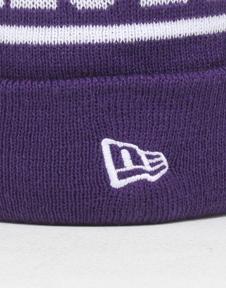 0fdd218f8 New Era Kids Los Angeles Lakers 6Dart Pom Knit Purple