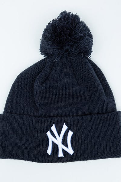 e4ee389e6be New Era Youth New York Yankees 6Dart Pom Knit Dark Navy