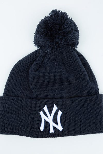 New Era Youth New York Yankees 6Dart Pom Knit Dark Navy