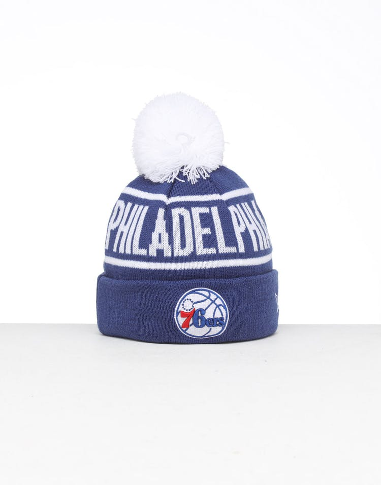 uk availability 535fc b2d5f New Era Kids Philadelphia 76ers 6Dart Pom Knit Blue – Culture Kings