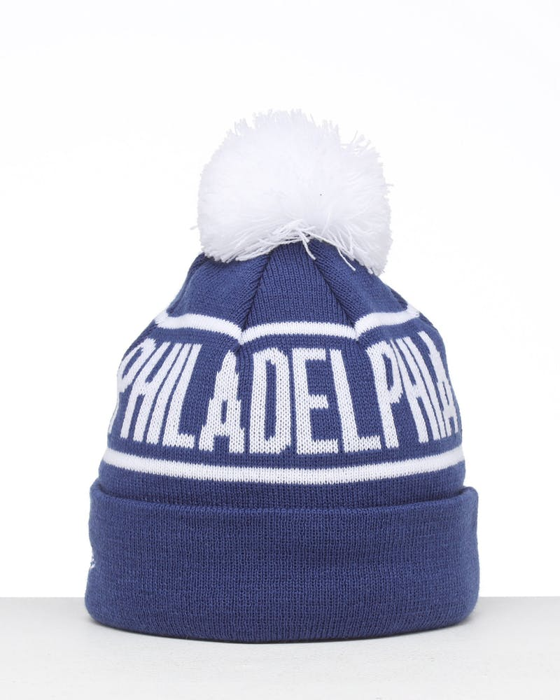 New Era Kids Philadelphia 76ers 6Dart Pom Knit Blue