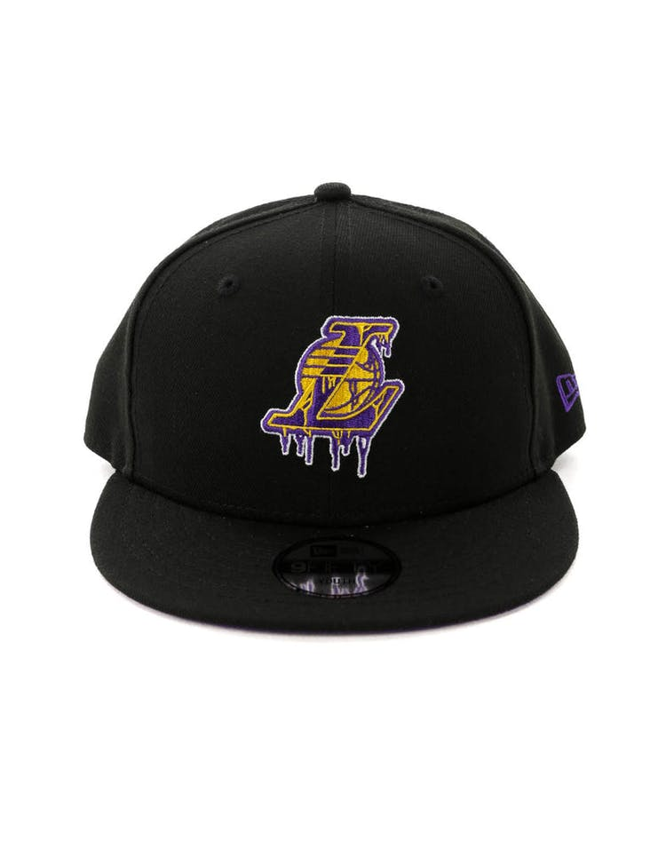 00d52e2b1 New Era Youth Los Angeles Lakers 9FIFTY Dribble Snapback Black