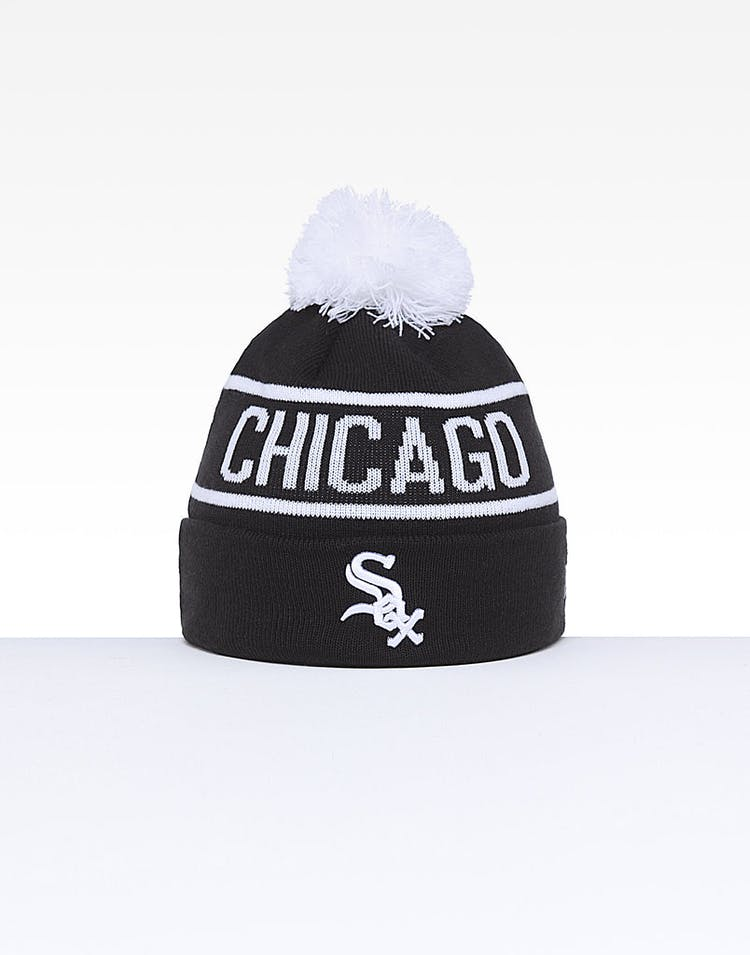 a0e68ee9f13dfe New Era Chicago White Sox 6Dart Pom Knit Black/White – Culture Kings
