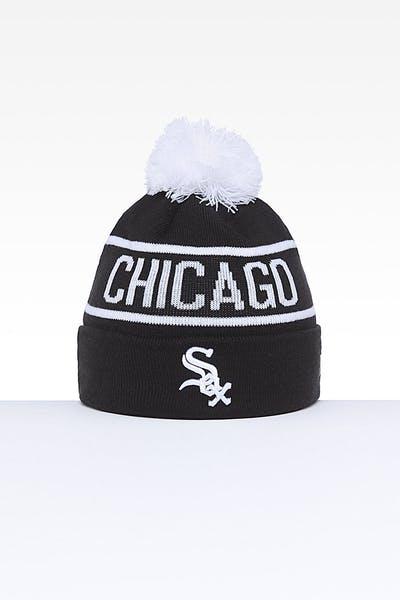1f1c8cfcc7e7b New Era Chicago White Sox 6Dart Pom Knit Black White