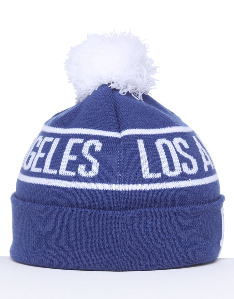 on sale 06ff3 22169 New Era Los Angeles Dodgers 6Dart Pom Knit Royal White