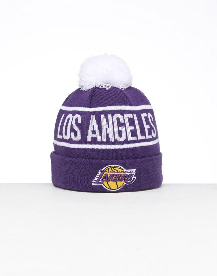 925752f046ad1c New Era | Los Angeles Lakers Knit Beanie Purple | Mens | NBA | Fire –  Culture Kings