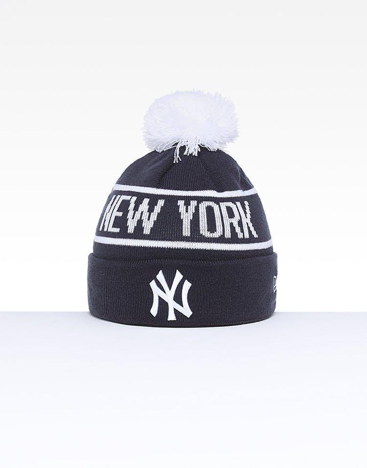 adbb0d495e67d New Era New York Yankees 6Dart Pom Knit Navy White – Culture Kings