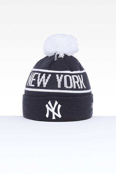 ea3a02f74c70d New Era New York Yankees 6Dart Pom Knit Navy White