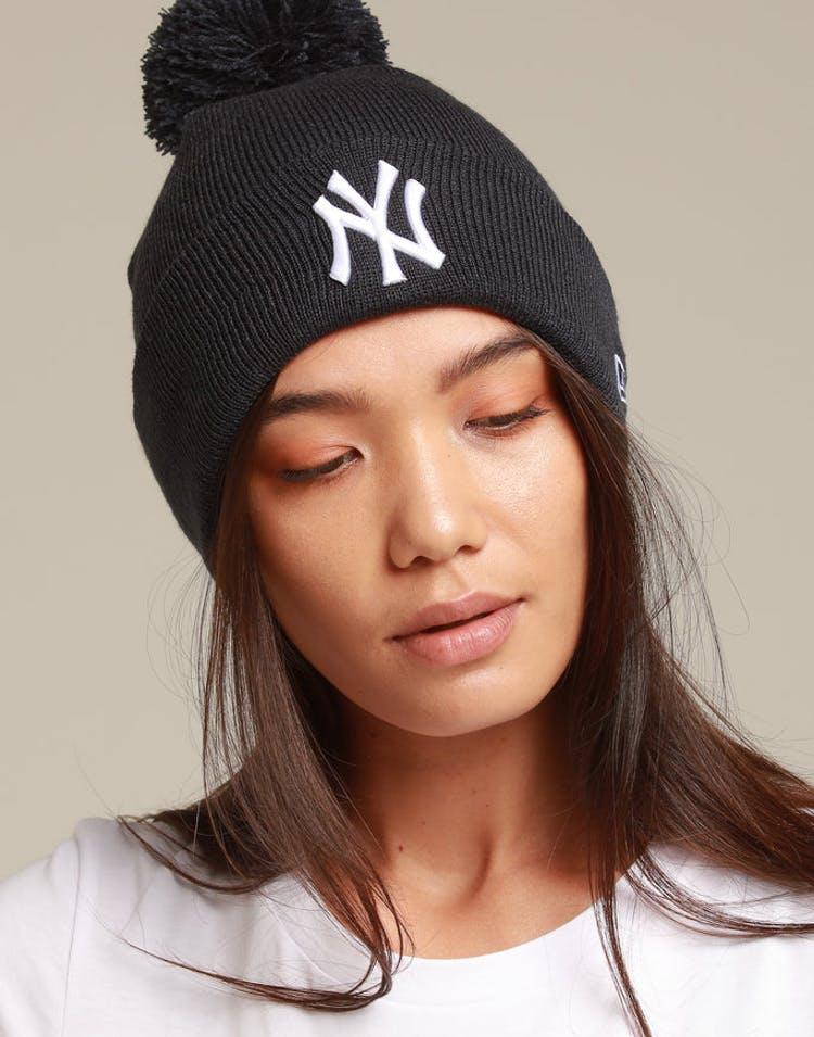 11ce042811636 New Era Women s New York Yankees 6Dart Pom Knit Navy White – Culture Kings