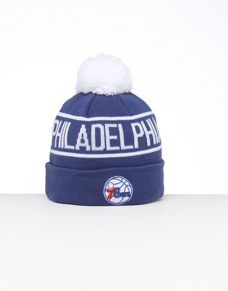 24427dd1714d91 New Era Philadelphia 76ers 6Dart Pom Knit Beanie Blue – Culture Kings