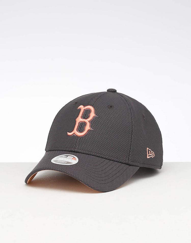 6ce1983d New Era Women's Boston Red Sox 9FORTY Hook & Loop Strapback Graphite/Peach