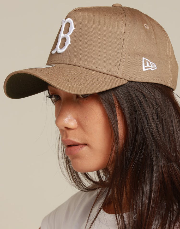 New Era Women's Boston Red Sox 9FORTY A-Frame Strapback Khaki