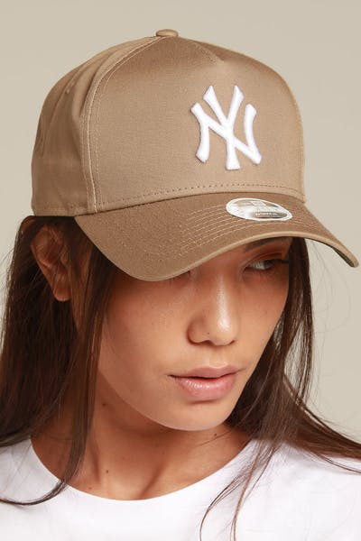 New Era Women's New York Yankees 9FORTY A-Frame Strapback Khaki