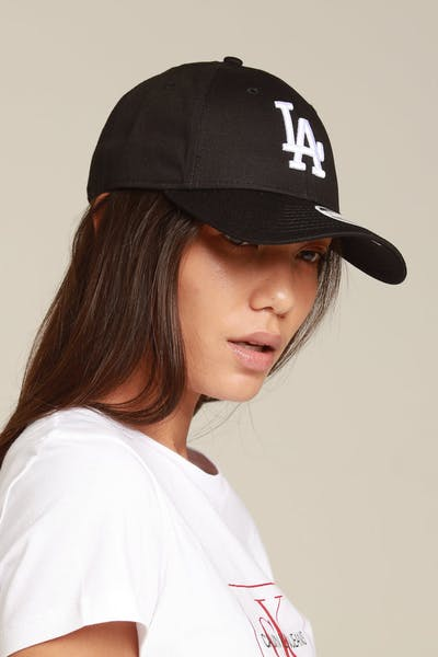 New Era Women Los Angeles Dodgers 9FORTY Tape Strapback Black/White