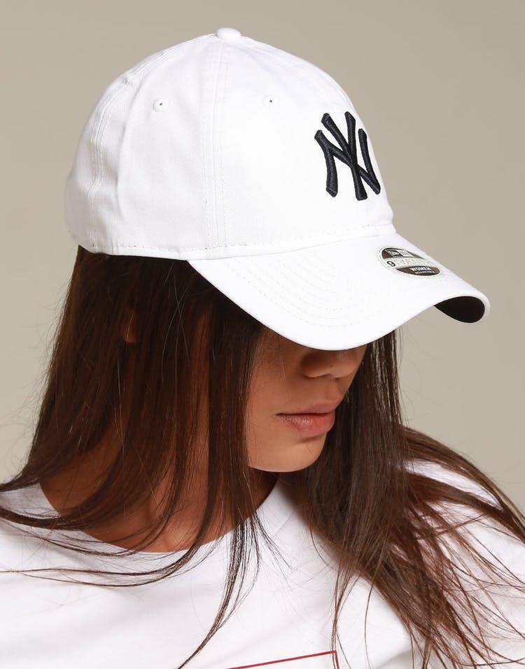 dc817c1831ecf New Era Women s New York Yankees 9TWENTY Strapback White Navy ...