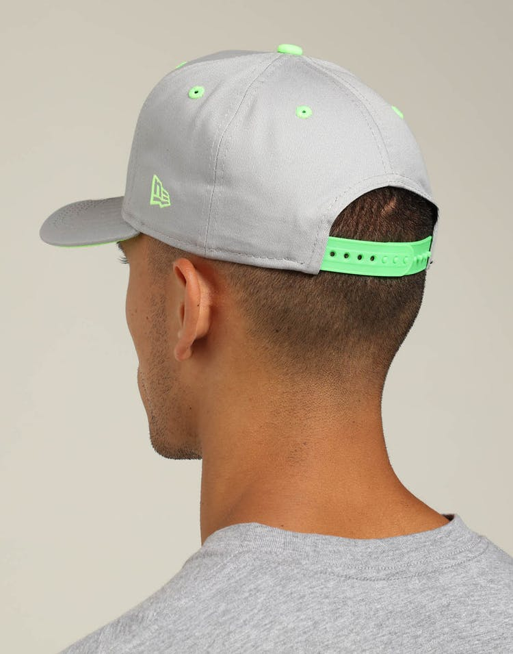 more photos 8a3cd 68c82 New Era Los Angeles Dodgers 9FIFTY Precurved Snapback Grey Neon Green