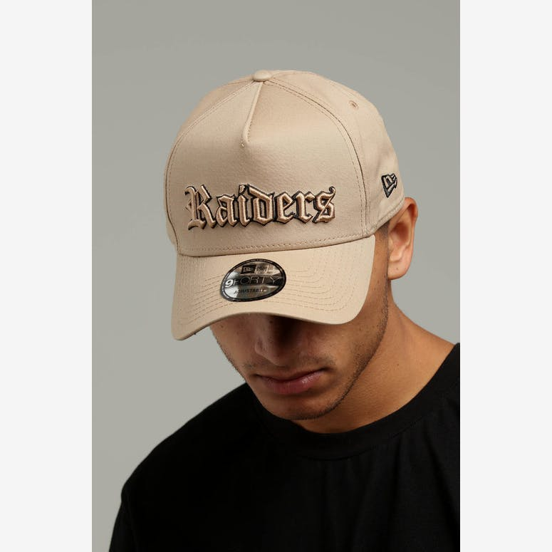 4bb71256662 New Era Raiders 9FORTY A-Frame Snapback Tan Black – Culture Kings