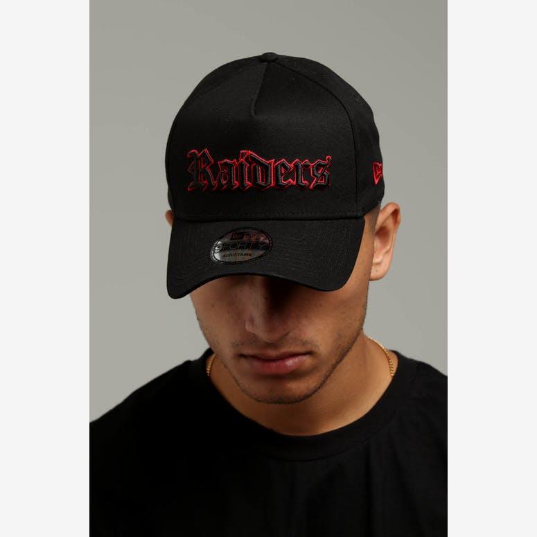 01ef1b5d6ae New Era Raiders 9FORTY A-Frame Snapback Black Scarlet – Culture Kings