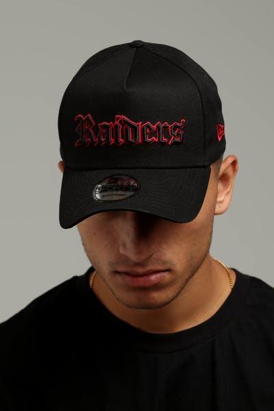34b21391ffc New Era Raiders 9FORTY A-Frame Snapback Black Scarlet