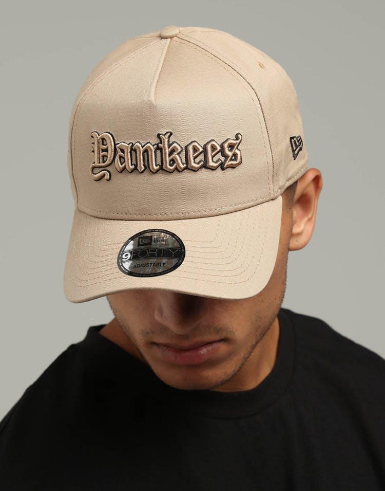 799e17f1515 New Era New York Yankees 9FORTY A-Frame Snapback Tan Black – Culture Kings