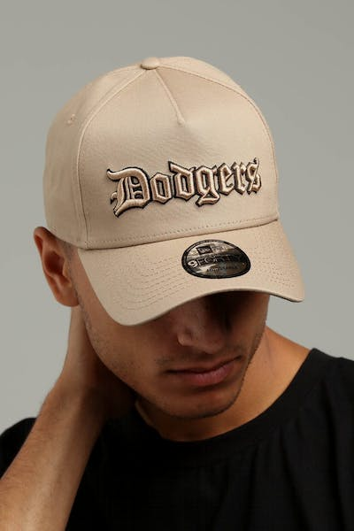 5616fedc73d New Era Los Angeles Dodgers 9FORTY A-Frame Snapback Tan Black