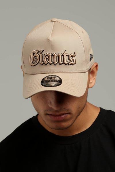 New Era San Francisco Giants 9FORTY A-Frame Snapback Tan Black 711819db84d8