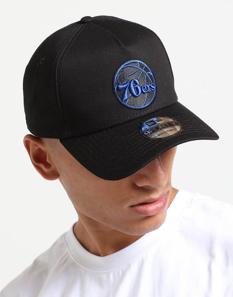 release date ed84c 5a10d New Era Philadelphia 76ers 9FORTY A-Frame Snapback Black Royal – Culture  Kings