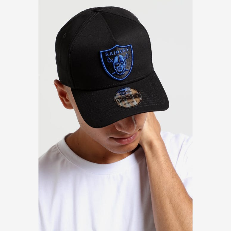 edf4068714e New Era Raiders 9FORTY A-Frame Snapback Black Royal – Culture Kings