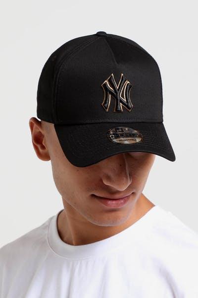 New Era New York Yankees 9FORTY A-Frame Snapback Black Wheat 92de1733ab4