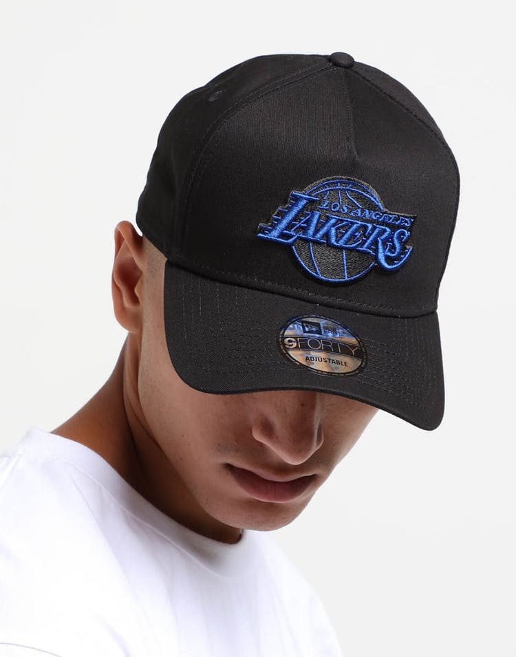 832219b38 New Era Los Angeles Lakers 9FORTY A-Frame Snapback Black Royal – Culture  Kings