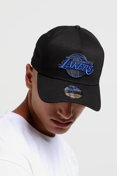 New Era Los Angeles Lakers 9FORTY A-Frame Snapback Black Royal b1d83fb3dea5