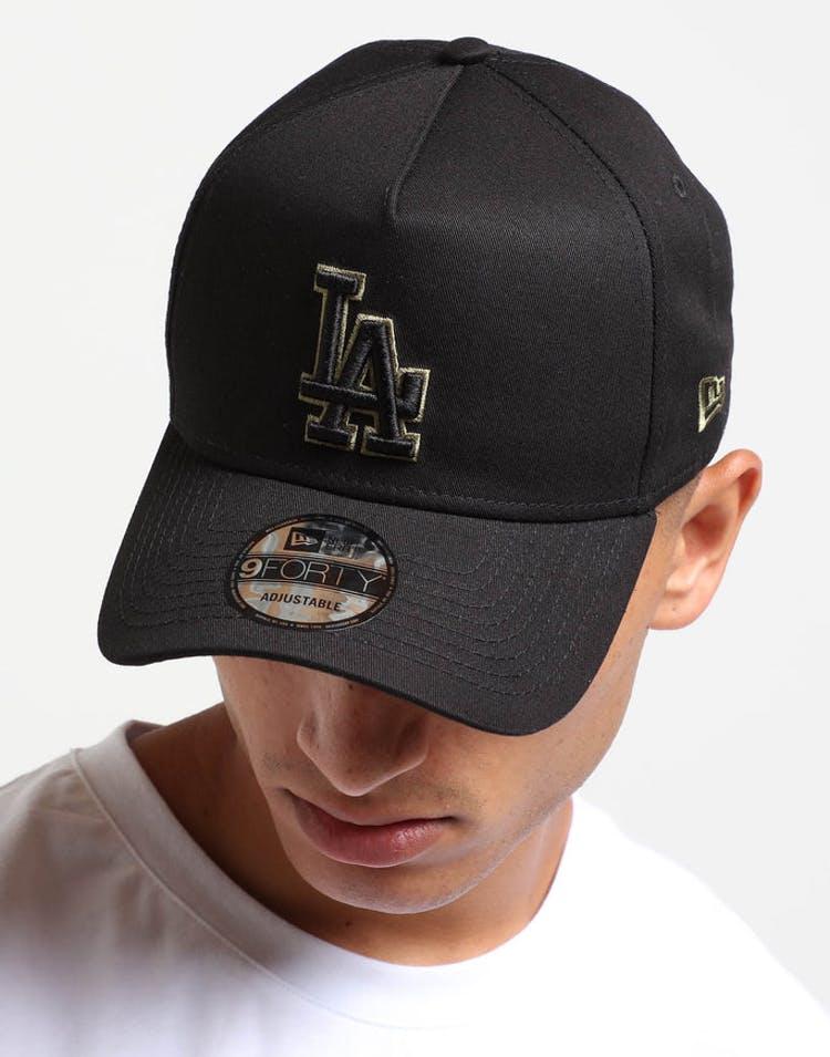 ded053dc New Era Los Angeles Dodgers 9FORTY A-Frame Snapback Black/Olive ...