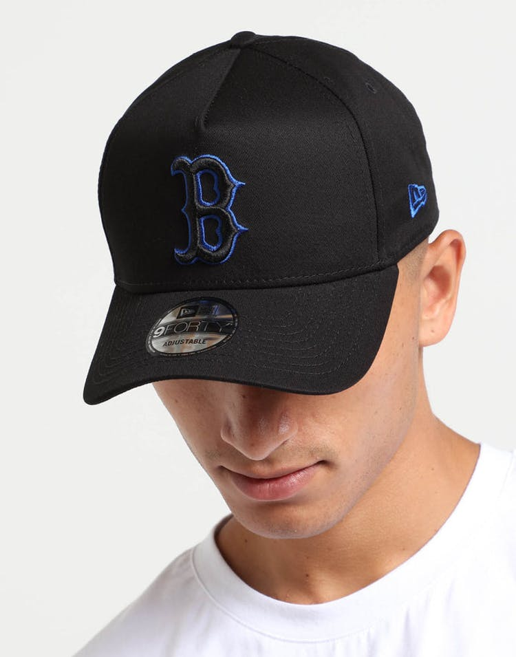 d089f8945f8 New Era Boston Red Sox 9FORTY A-Frame Snapback Black Royal – Culture Kings