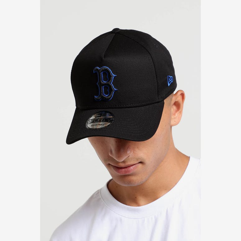 3d4f0d134a9 New Era Boston Red Sox 9FORTY A-Frame Snapback Black Royal – Culture Kings