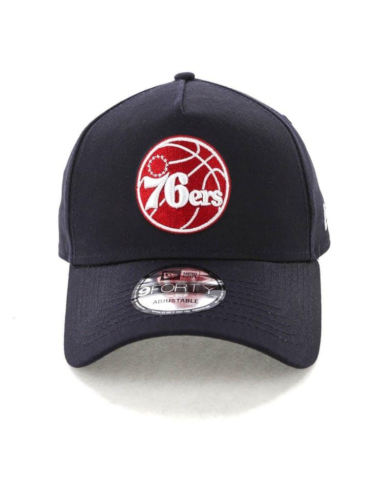 bd8f8d11 New Era Philadelphia 76ers 9FORTY A-Frame Snapback Navy/Scarlet/White