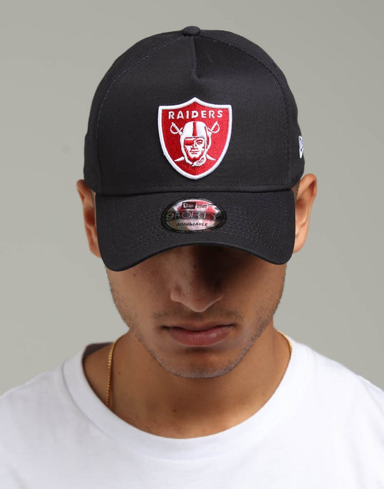 a5dcd42e New Era Raiders 9FORTY A-Frame Snapback Navy/Scarlet/White – Culture Kings