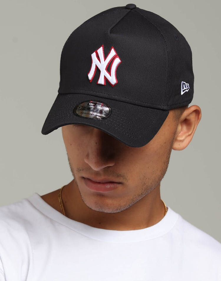 1b546612458 New Era New York Yankees 9FORTY A-Frame Snapback Navy Scarlet White –  Culture Kings