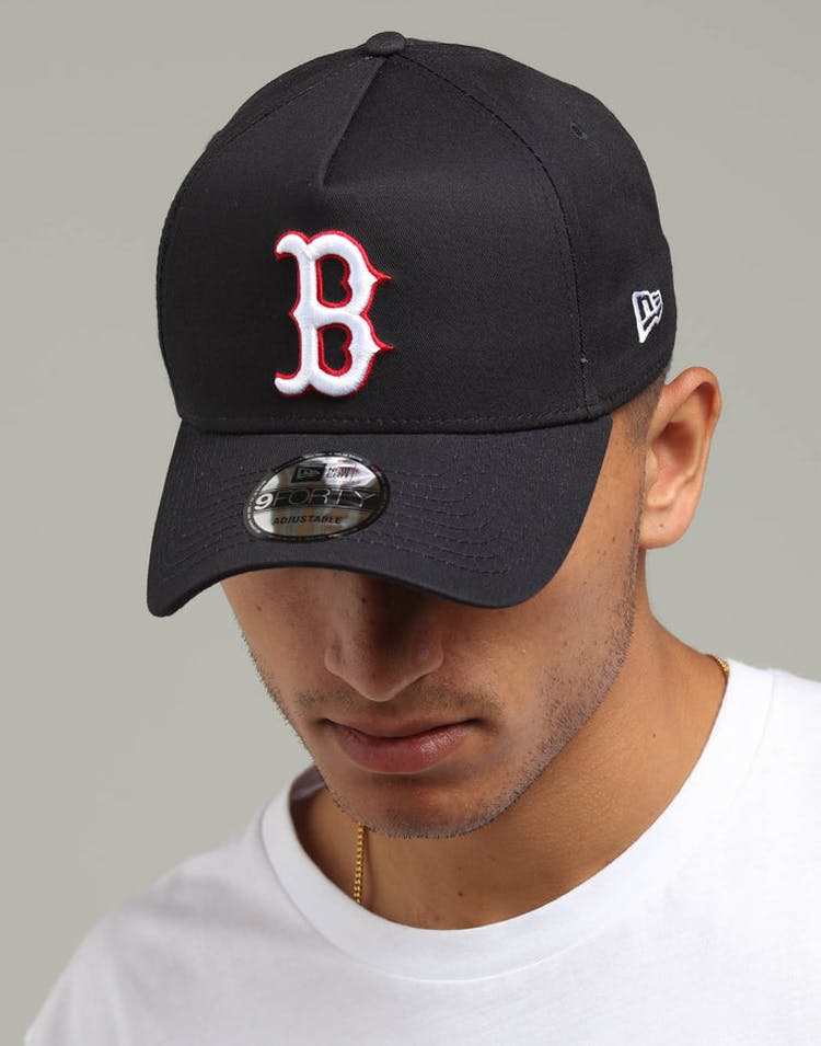3625c43718a34 New Era Boston Red Sox 9FORTY A-Frame Snapback Navy Scarlet White – Culture  Kings