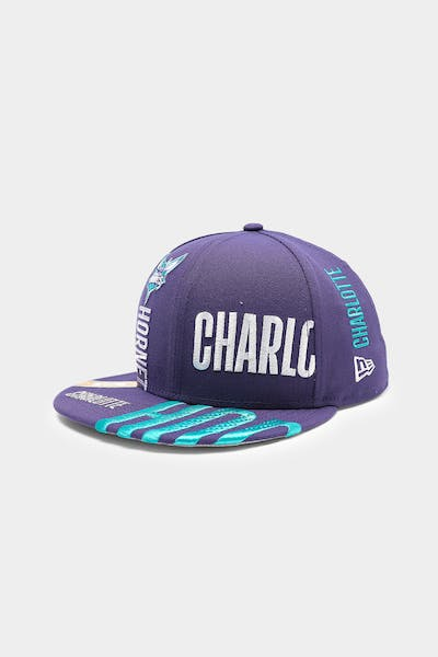 New Era Charlotte Hornets 9FIFTY 19 Tip Off Snapback Dark Blue