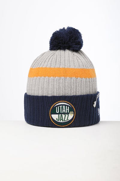 New Era Utah Jazz Knit NBA Draft Beanie Navy/OTC