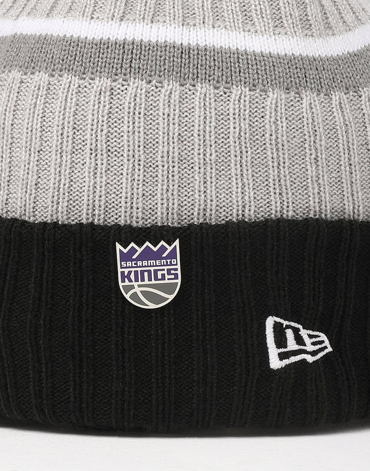 promo code 0243d eac97 New Era Sacramento Kings Knit NBA Draft Beanie Black OTC