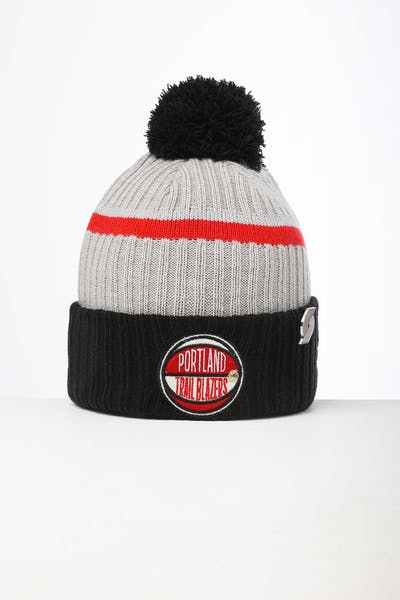 New Era Portland Trail Blazers Knit NBA Draft Beanie Black/OTC