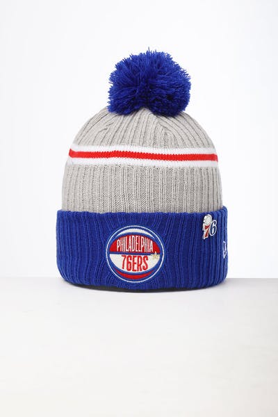 New Era Philadelphia 76ers Knit NBA Draft Beanie Dark Blue/OTC