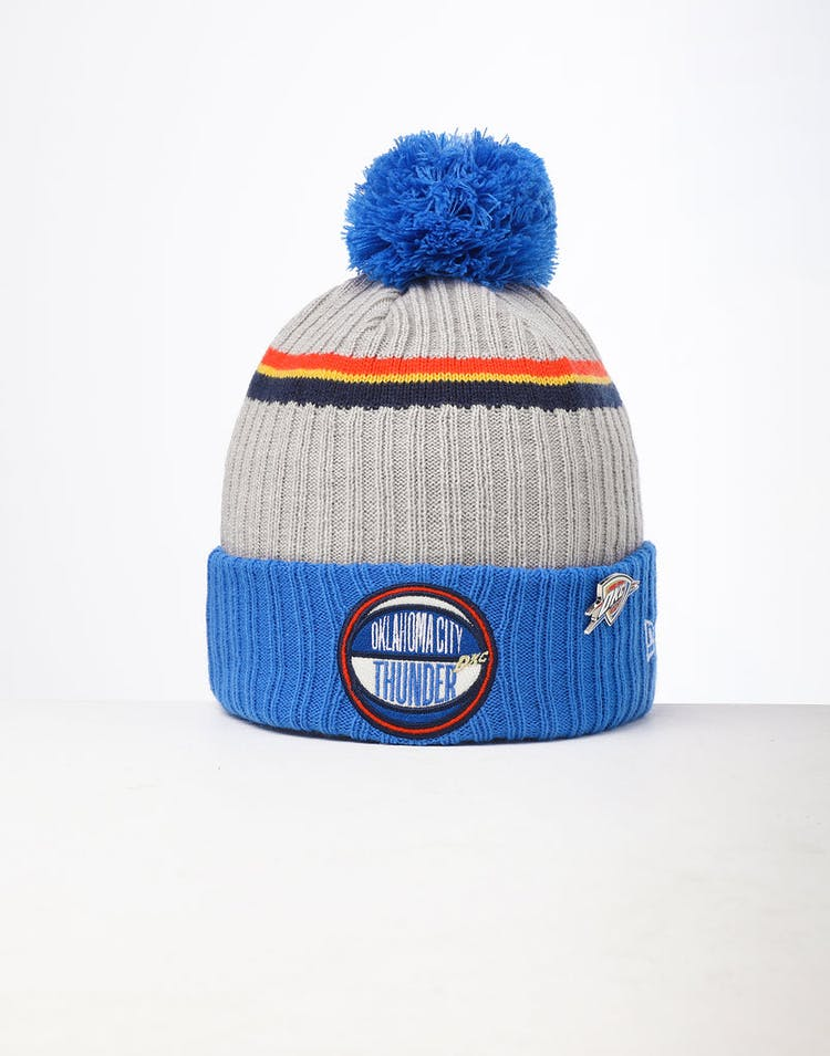 66b7bd5fd New Era Oklahoma City Thunder Knit NBA Draft Beanie Blue/OTC