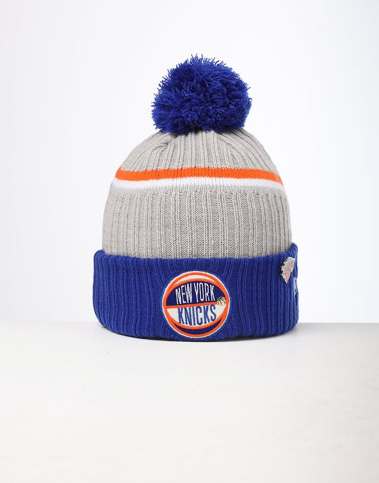 92b6df0faf890d New Era | New York Knicks Knit NBA Draft Beanie Dark Blue | Mens – Asblrcr