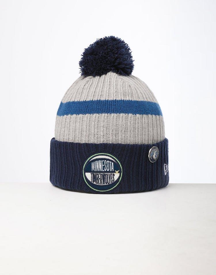 buy online 5bf59 3b570 New Era Minnesota Timberwolves Knit NBA Draft Beanie Navy OTC – Culture  Kings