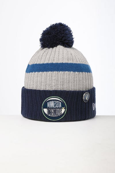 New Era Minnesota Timberwolves Knit NBA Draft Beanie Navy/OTC